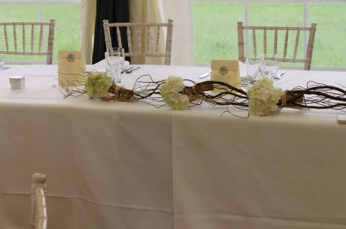 hydrangea top table