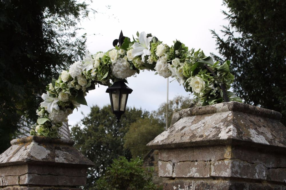 hydrangea arch