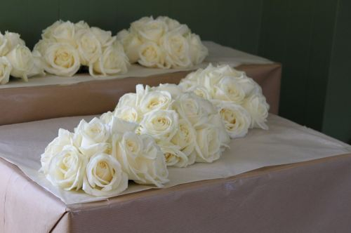 Ivory avalanche brides bouquet