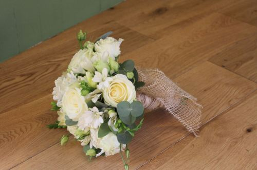 Rose and freesia brides bouquet