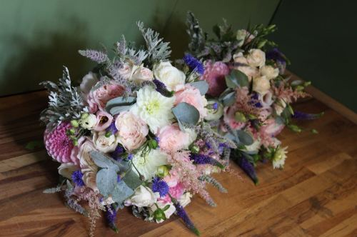 summer brides bouquet with david austin roses