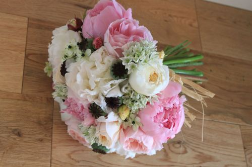 david austin rose brides bouquet