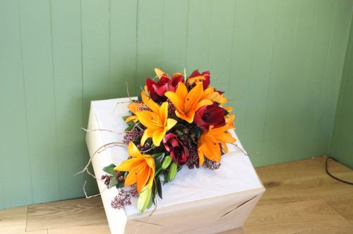 autumnal brides shower bouquet