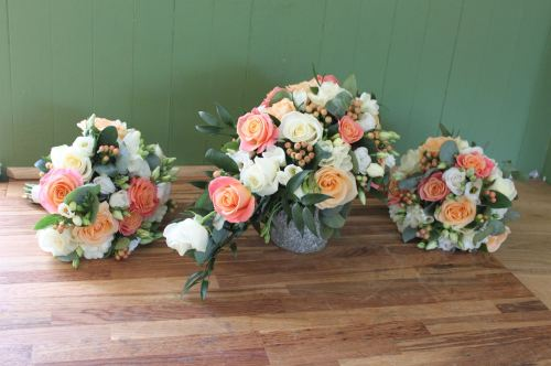 rose brides shower bouquet