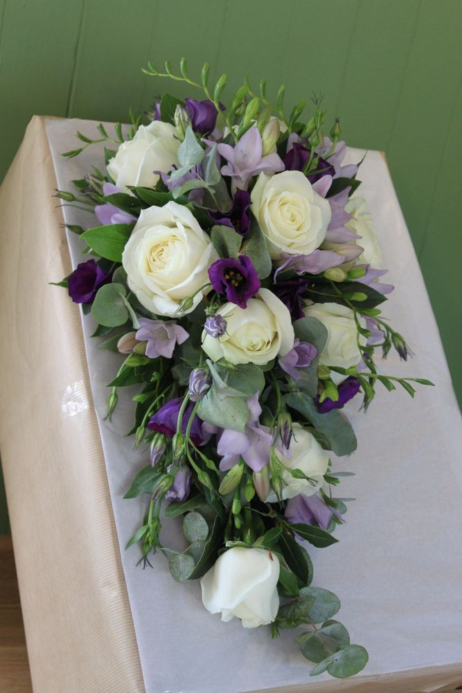 lilac purple brides shower bouquet