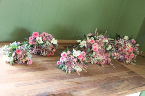 country garden bridesmaids bouquets