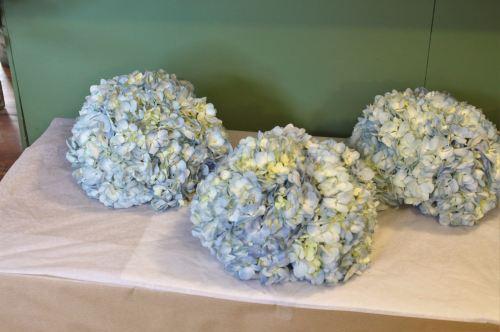 blue hydrangea bridesmaids bouquet