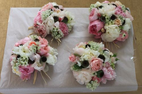 david austin rose bridesmaids bouquet