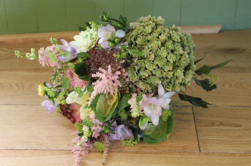 country garden bridesmaids bouquet