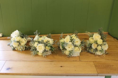 rose and foliage bridesmaids bouquet