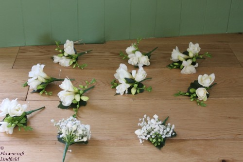 freesia corsages
