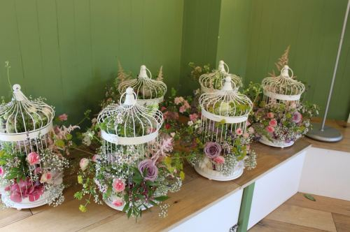 vintage bird cage arrangements