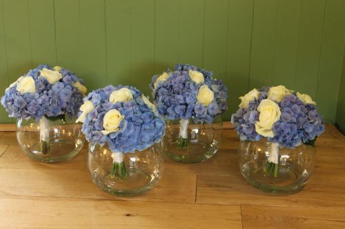 rose and hydrangea vases