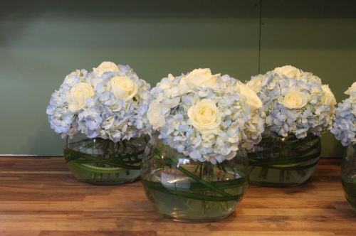 rose and hydrangea bubble bowl
