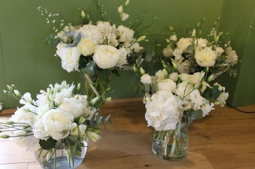 mixed white vases