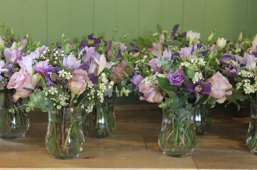 lilac low mini vase