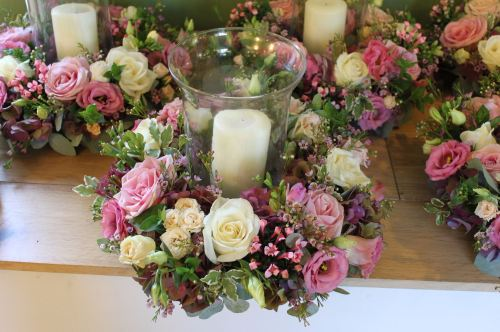 hurricane lamp arrangement