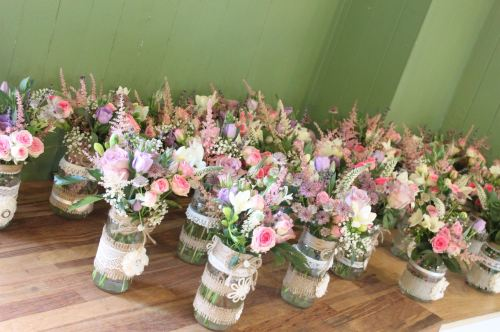 cottage garden jam jars