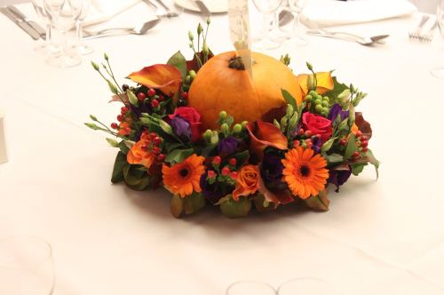 autumn table center