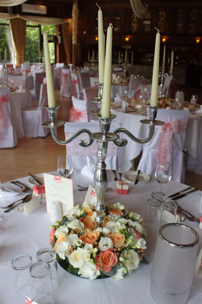 rose and hydrangea candelabra ravenswood