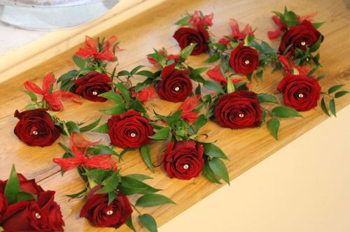 place setting flowers