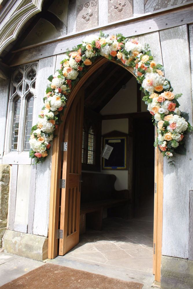 floral arch st peters church chailey