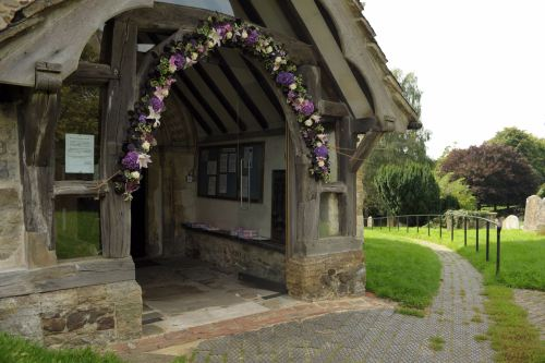 floral arch at west chiltington church