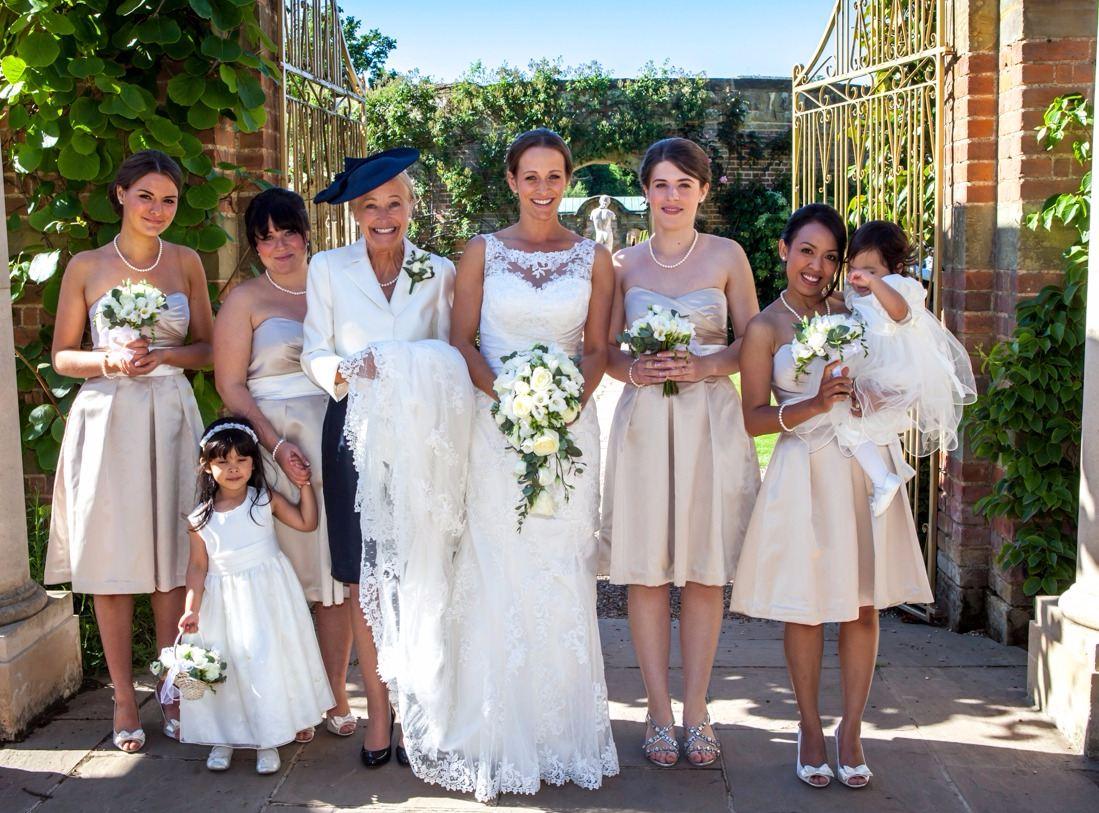 bridal party hever castle