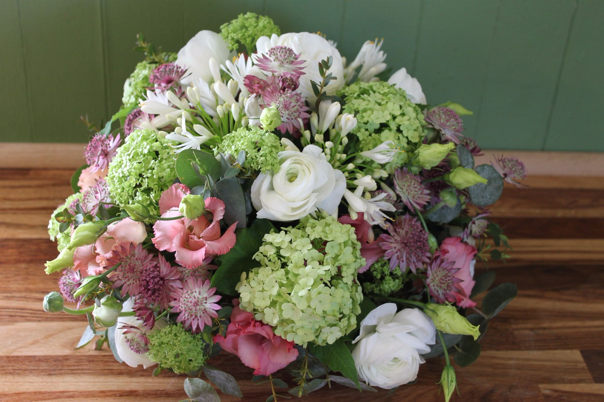 Pink, Lime and white posy