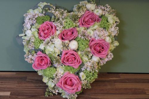 rose lilac and guelder rose heart