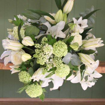 Classic White Lily Bouquet. Price from