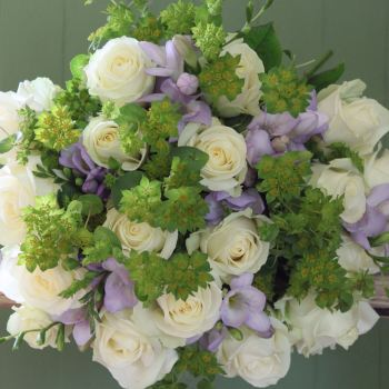 Ivory Rose and Lilac Freesia Bouquet