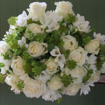 Ivory Avalanche Rose and Freesia Bouquet. Price from