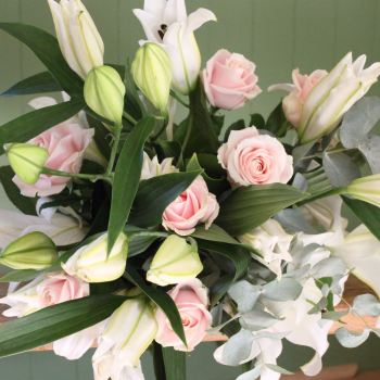 White Lily and Sweet Avalanche Valentine's Bouquet. Price from