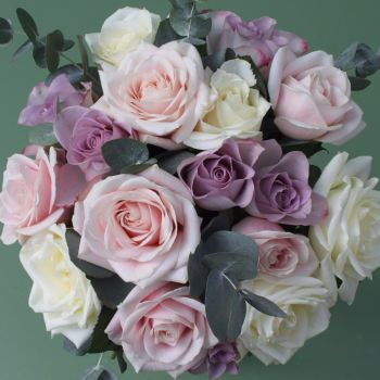 Mixed Pastel Rose Bouquet. Price from