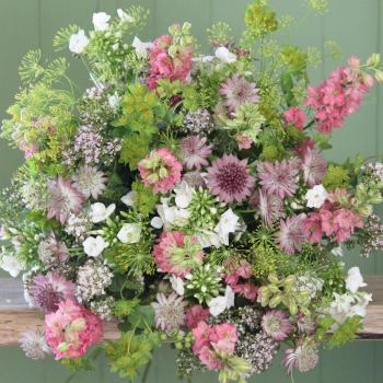 A Cottage Garden Pink Bouquet. Price from