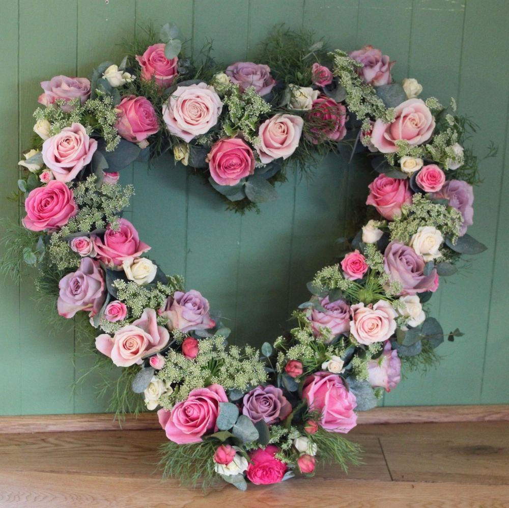 Mixed Pastel Rose Open Heart