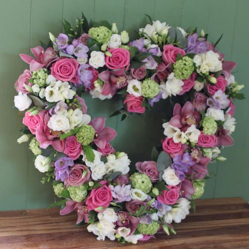 Rose, Freesia and Orchid Open Heart