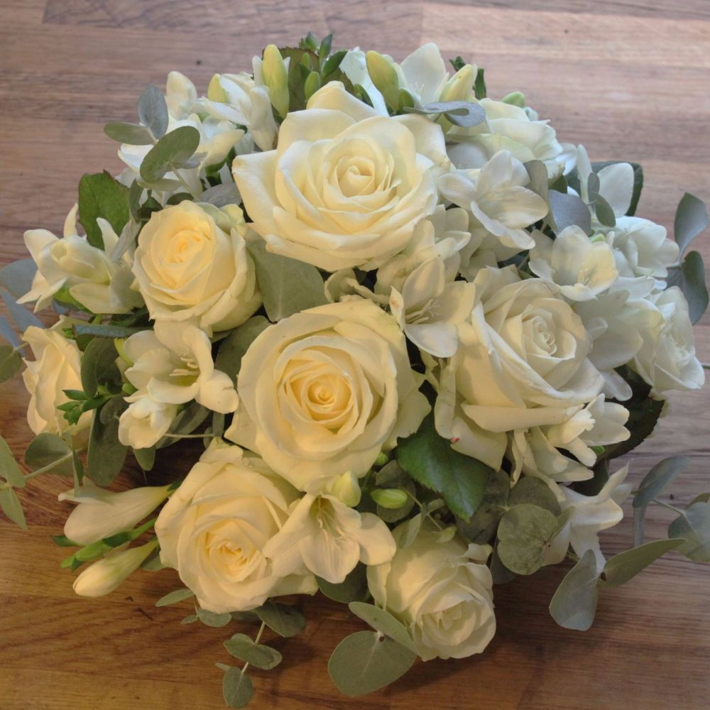 Ivory Rose and Freesia Posy