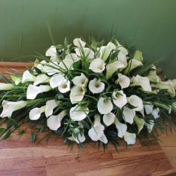 Calla Lily Coffin Spray