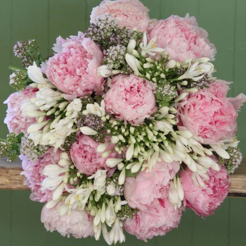 A Pink Peony Bouquet
