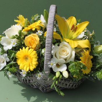 Yellow and White Basket. Price from