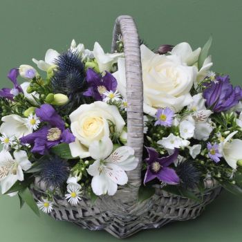 White, Blue and Purple Basket