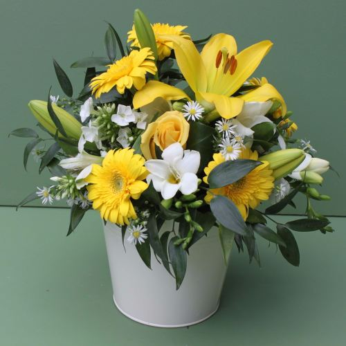 Yellow and White Scented Arrangement