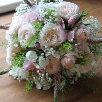 Blush Rose Hand-tied Posy. Price from