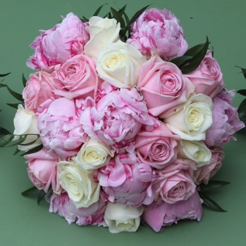 Rose and Peony Hand-tied Posy. Price from