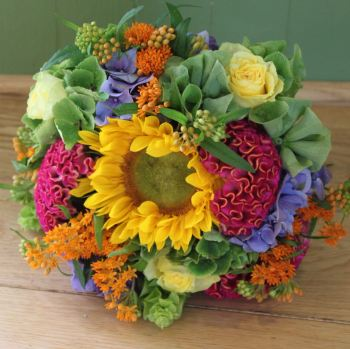 Eclectic Hand-tied Posy. Price from