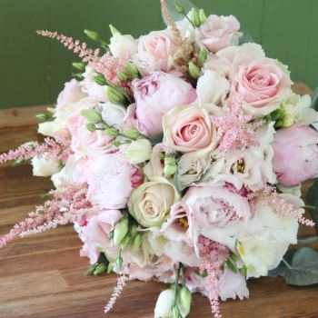Romantic Pink Hand-tied Posy. Price from