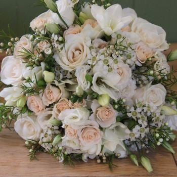 Ivory and Cream Hand-tied Posy. Price from