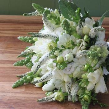 Classic White Hand-tied Posy. Price from